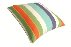 Blue Ocean Striped Pillow Cover In clearance