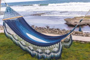 Best indoor and outdoor hammock for 2021 . Handmade and hand dye  with indigo plant insect repellent