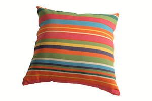 Decorative Striped Pillow Cover With Mildew Resistant