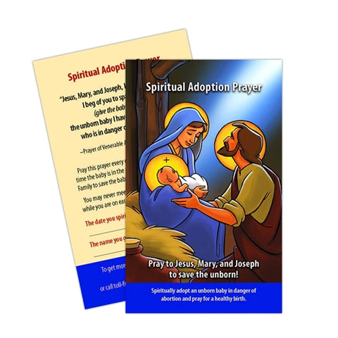 """Family 5-pack"" Spiritual Adoption Prayer Card (5-pack)"