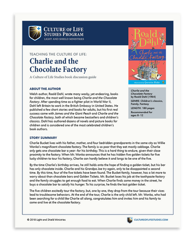 Book Discussion Guide: Charlie and the Chocolate Factory by Roald Dahl (Digital Download)