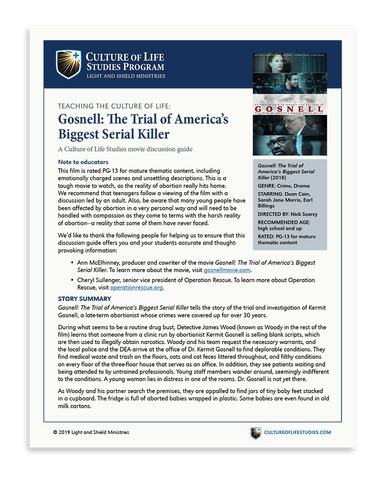 Movie Discussion Guide: Gosnell: The Trial of America's Biggest Serial Killer