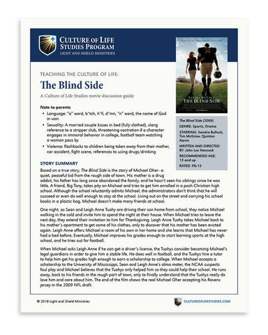 Movie Discussion Guide: The Blind Side (2009) (Digital Download)
