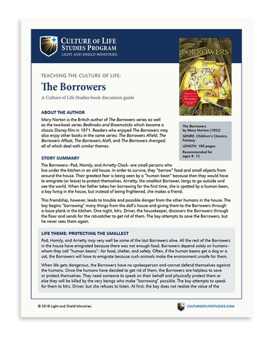 Book Discussion Guide: The Borrowers by Mary Norton (Digital Download)