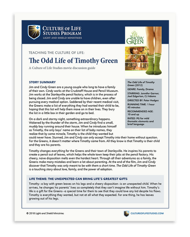 Movie Discussion Guide: The Odd Life of Timothy Green (Digital Download)