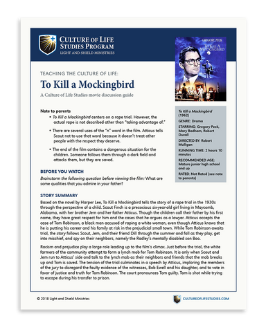 Movie Discussion Guide: To Kill a Mockingbird (1962) (Digital Download)