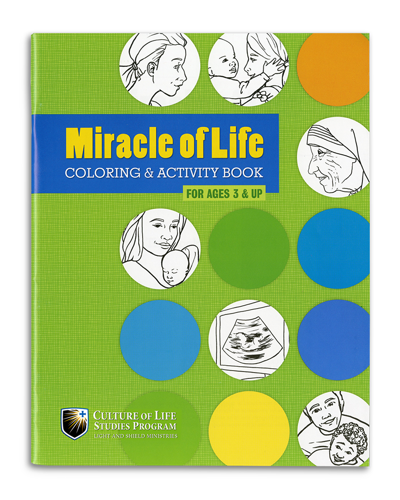 Miracle of Life Coloring & Activity Book (ages 3+)
