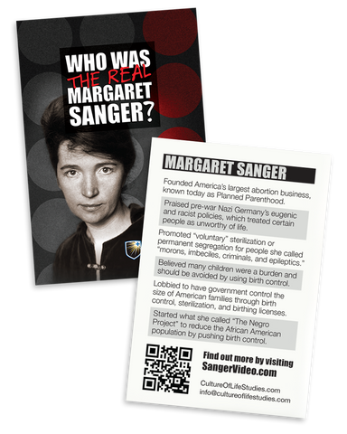 Who Was the Real Margaret Sanger? Drop Card