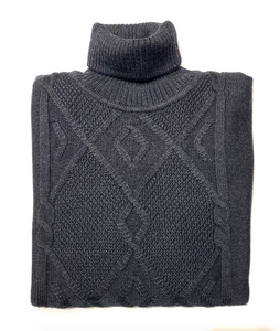 Heavy Cable Knit Turtle Neck Sweaters