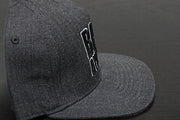 Premium Puff Embroidered Snapback - Dark Grey (B/W)