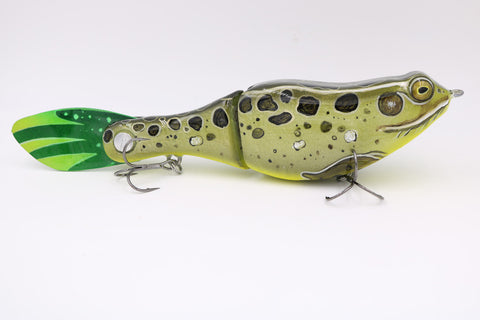 "NEW DYNA-GLYDE 7 - 8"" LEOPARD FROG - Slow Sink - Bass Dynasty - 1"
