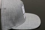 Premium Puff Embroidered Snapback - Light Grey (W/B)