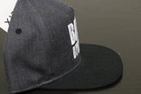 Premium Puff Embroidered Snapback - Dark Grey / Black (W/B)