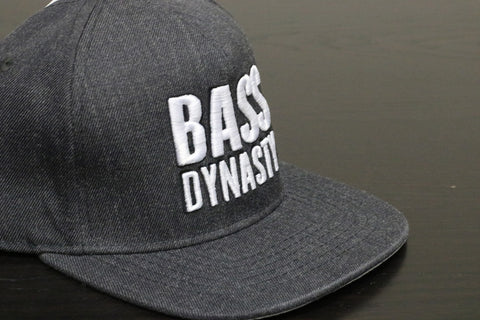 Premium Puff Embroidered Snapback - Dark Grey (W/B)