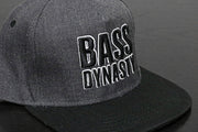 Premium Puff Embroidered Snapback - Dark Grey / Black (B/W)
