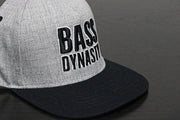 Premium Puff Embroidered Snapback - Light Grey / Black (B/W)