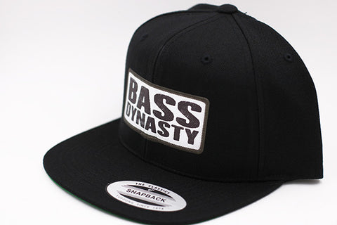 Premium Bass Dynasty Sublimated Snapback Hat - Black / White