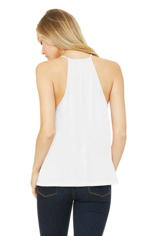 Premium White BELLA+CANVAS ® Women's Flowy High-Neck Tank