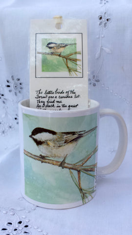 Cup / Mug and Bookmark - 'Woodland Chickadee' - a Favorite for a Morning Delight