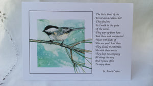 Greeting Card - 'Woodland Chickadee'