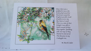 Greeting Card - 'Goldfinch I'