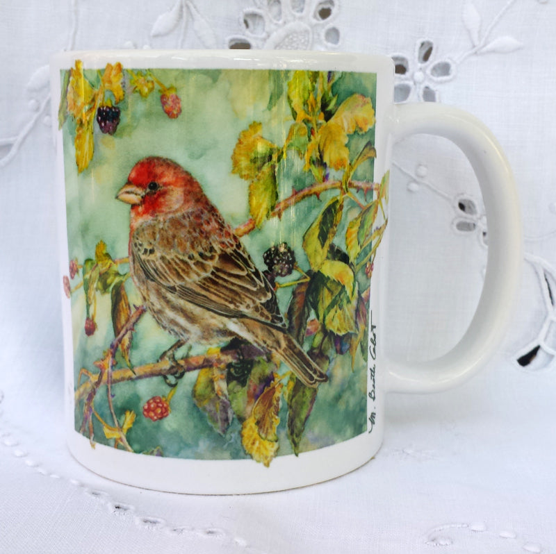 Cup / Mug & Bookmark - House Finch - a Favorite for a  Morning Delight
