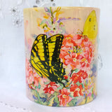 Cup / Mug & Bookmark - 'Swallowtail Butterflies on Verbena' - a Favorite for a Morning Delight
