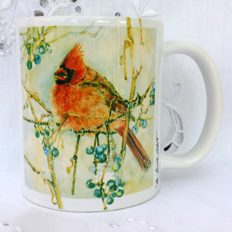 "Cup / Mug & Bookmark - ""Cardinals"" A Favorite for a Morning Delight"