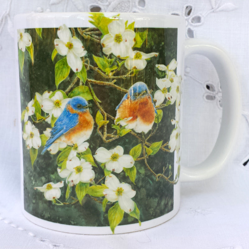 Cup / Mug & Bookmark - Bluebirds and Dogwood - a Favorite for a Morning Delight