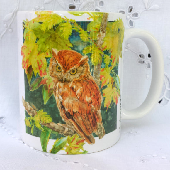 Cup / Mug & Bookmark - Southern Screech Owl - a Favorite for a Morning Delight