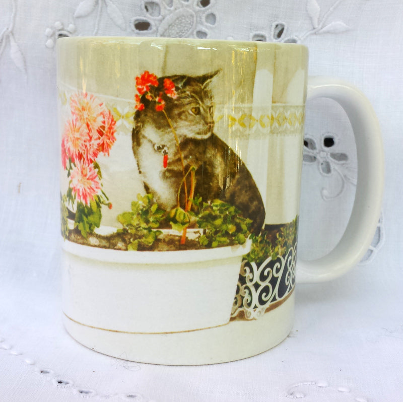Cup / Mug & Bookmark - Hidin' Out, Tabby Cat - a Favorite for a Morning Delight