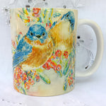 Cup / Mug & Bookmark - Bluebirds - a Favorite for a Morning Delight