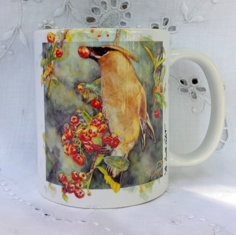 Cup / Mug & Bookmark - Cedar Waxwing - a Favorite for a Morning Delight