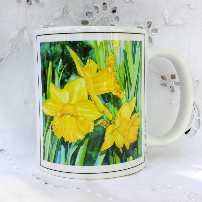 Cup / Mug & Bookmark - Daffodil Trio - a Favorite for a Morning Delight