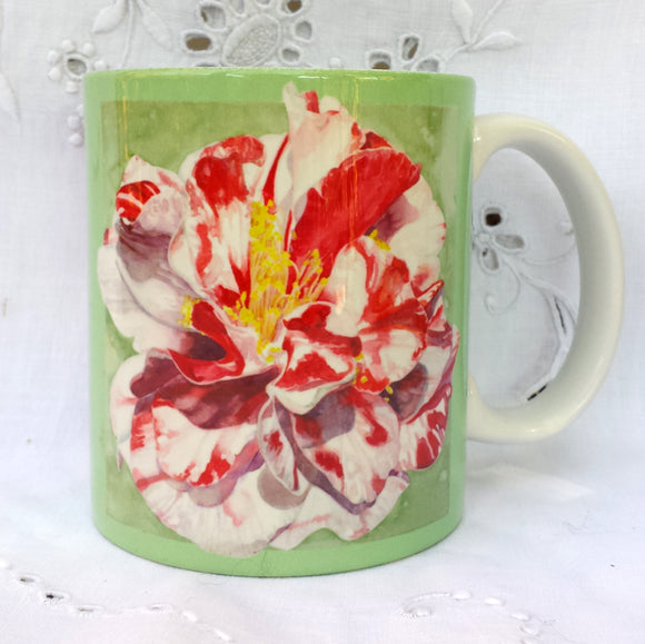 Cup / Mug & Bookmark - Camellia Emmett Pfingstl (a peppermint variety)- a Favorite for a Morning Delight