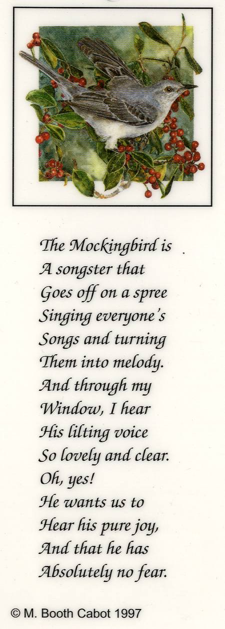 Bookmark - Mockingbird on Holly