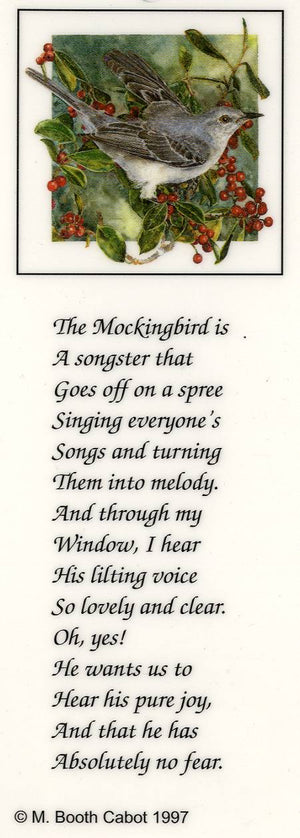 Cup / Mug & Bookmark - Mockingbird on Holly - a Favorite for a Morning Delight