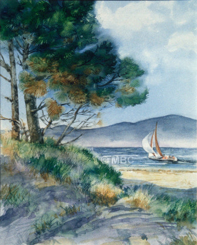 Summer Sailing -  Translucent Watercolor