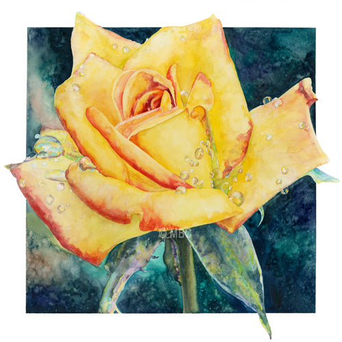 Rose - Yellow Rose of Texas - Watercolor