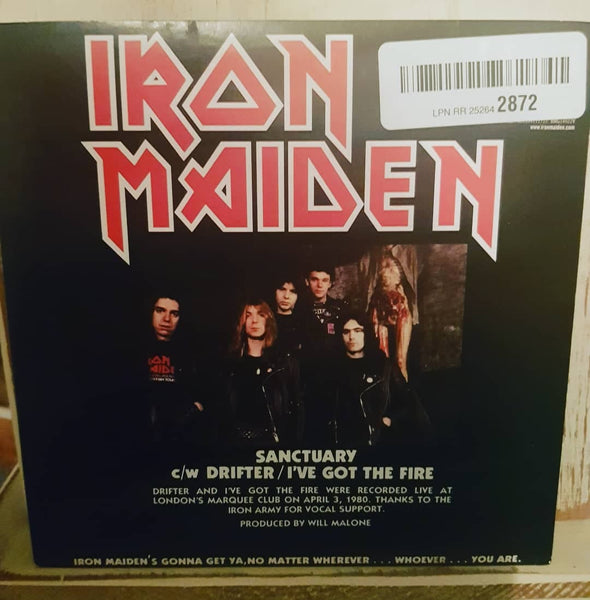 "Iron Maiden ‎– Sanctuary [7"" Single] [Limited Edition] [Reissue] [Uncensored]"
