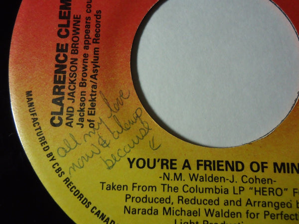 Clarence Clemons & Jackson Browne - You're A Friend Of Mine / Let the Music Say It