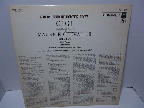 Alan Jay Lerner And Frederick Loewe - Gigi (Original French Version)
