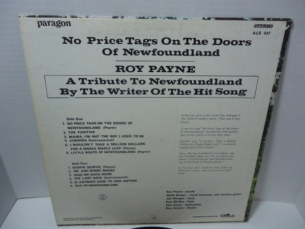 Roy Payne - No Price Tags On The Doors Of Newfoundland