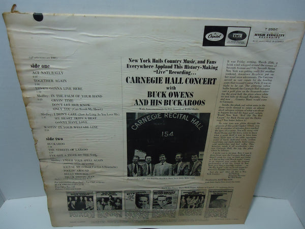 Buck Owens And His Buckaroos ‎– Carnegie Hall Concert [Live Recording]