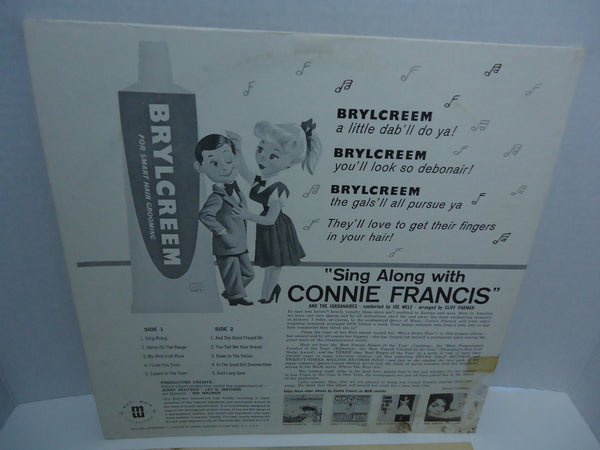 Connie Francis ‎– Sing Along With Connie Francis [U.S Release]