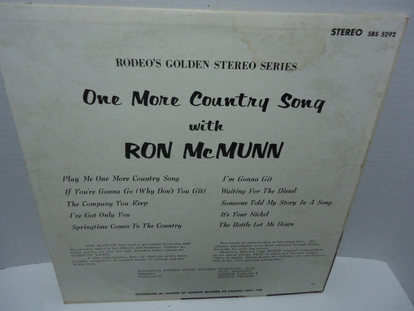 Ron McMunn ‎– One More Country Song With Ron McMunn