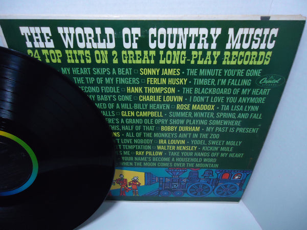 Various Artists ‎– The World Of Country Music [Double LP] [Gatefold]