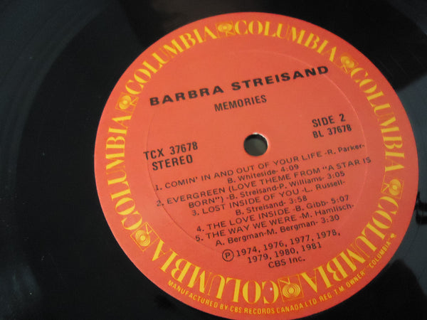Barbra Streisand ‎– Memories