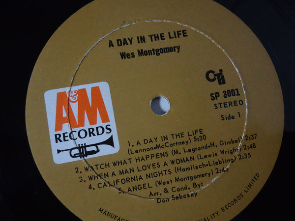 Wes Montgomery ‎– A Day In The Life [Gatefold]
