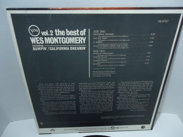 Wes Montgomery ‎– The Best Of Wes Montgomery Vol. 2